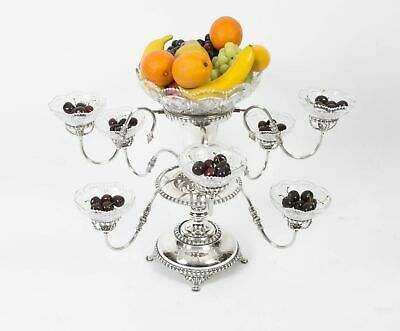 English Victorian Silver Plate Epergne Centrepiece