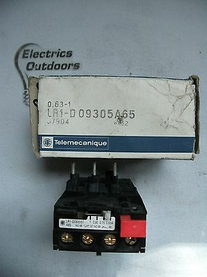 Telemecanique 0.63 1 Amp Thermal Overload Relay Lr1 D09305A65 07904 8852