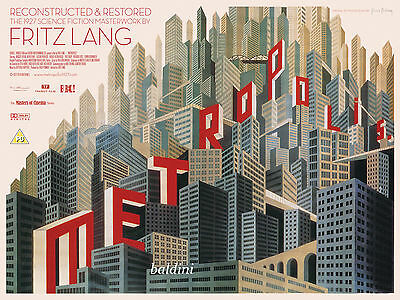 Fritz Lang - Metropolis Rare Science Fiction Movie Poster - Looks Great Framed