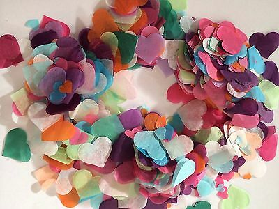 Biodegradable Confetti Rainbow Heart Wedding Decorations up to 5 handfuls/ Cones