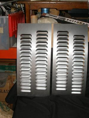 Pair of Louvered Staggered Row  Gasser Hood panels by Rodlouvers