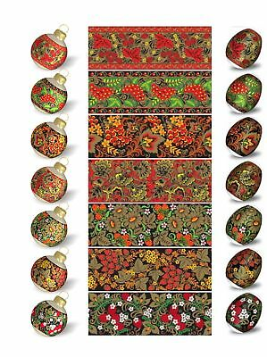 Ukrainian Easter Egg Wraps,Pysanka,Pysanky Egg Heat Shrink Sleeves,7 Hen SizeS10