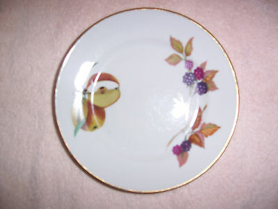 Vintage Evesham 1961 Royal Worcester Oven to Table Dessert Bread Plate