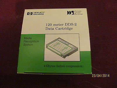 NWT HP 120 Meter DDS-2 Data Tape Cartridge DAT - 4GB Capacity - 4 unopened tapes