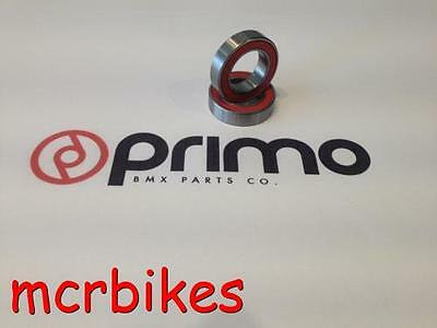 Primo N4 Flangless Bmx Wheel Hub Bearings ( X2 ) Rubber Sealed Grease Filled
