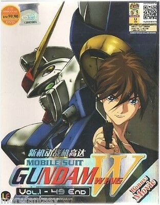 DVD Anime Gundam Wing W Complete Episode 1-49 DVD Box with English Dubbed