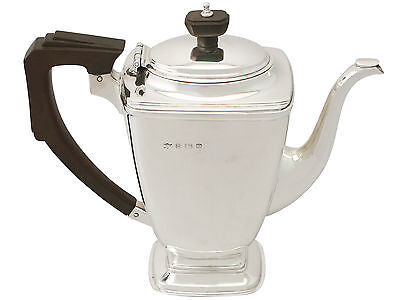 Sterling Silver Coffee Pot - Art Deco Style - Antique George VI