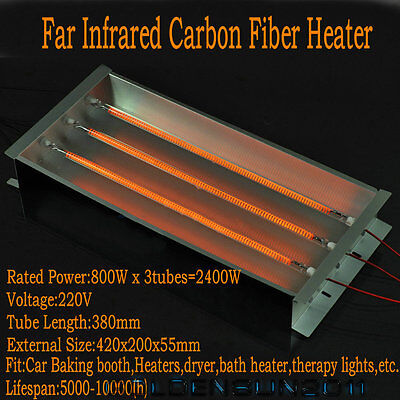 Spray/Baking Booth Infrared IR Paint Curing Heating Lamp Body Shop Booth 2400W A