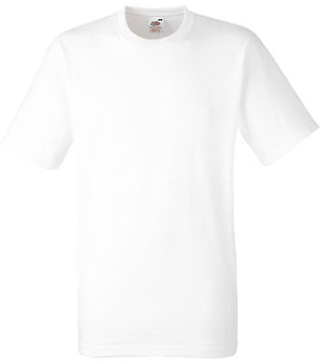 Tee-shirt Fruit Of The Loom blanc HEAVY-T 100% coton - SC61212