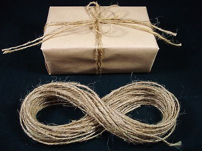Jute Twine Thin 15m String Natural Hessian Craft Gift Wrap Brown FREE POSTAGE