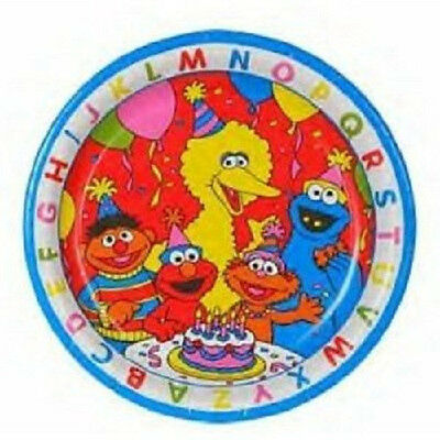 """Sesame Street ~ (8) Large 9"""" Lunch  Plates ~ Elmo Birthday Party Supplies"""