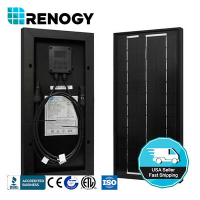 Renogy 10W Watts 12V Mono Solar Panel Off Grid Battery Charger for RV Boat Gate