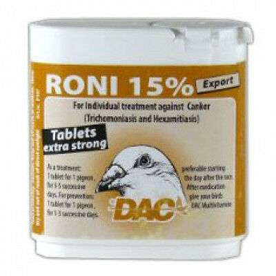 Pigeon Product - Export Roni 15% pills by DAC - for Racing Pigeons