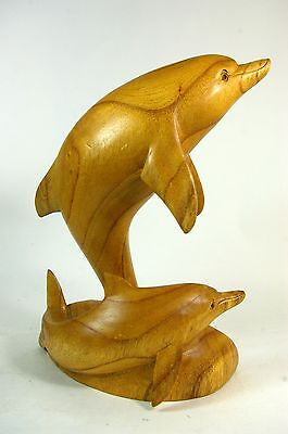 Dolphins Hand Carved Wooden Sculpture