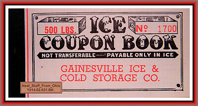 ICE COUPON BOOKLET - GAINESVILLE ICE and COLD STORAGE COMPANY (FLORIDA) c1940's