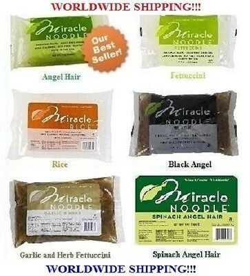 4 Packs Miracle Noodle Angel Hair, Fettuccini, and/or Rice - Ship Worldwide!!!
