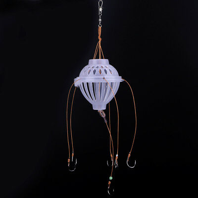 6 in 1 Lantern Bait Case Plastic Fishing Hook Barbed Explosion Fishing Tackle