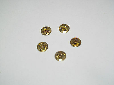 Lot de 5 Attaches pour Pin's couleur or Fasteners Pins
