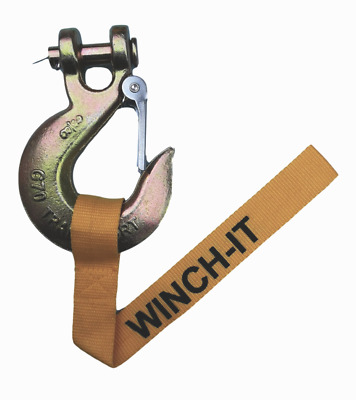 """WINCH ROPE CLEVIS HOOK 3/8"""" Pin suits upto 13500lb winch"""