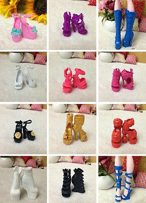 60 styles Fashion Shoes Boots For Original Monster High Doll Accessories