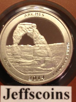 2014 P D Arches National Park QUARTER Utah STATE U S Mint ATB 2 Coin SET New BU