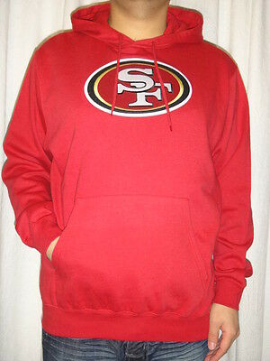 7c705a57e San Francisco 49ers Primary Logo Team Color Mens Fleece Pullover Hoodie  Large