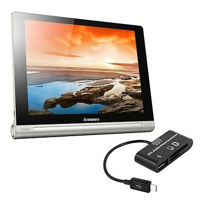 kwmobile 3 In 1 Micro Usb 2.0 Card Reader für Lenovo Yoga Tablet 10 Hd+ Adpater