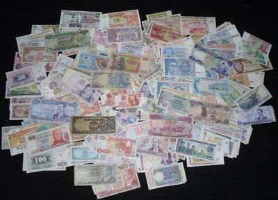 100 Different World Banknotes Paper Money