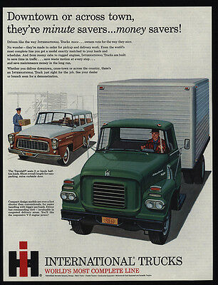 1960 INTERNATIONAL Delivery Work Truck - Travelall Station Wagon - VINTAGE AD
