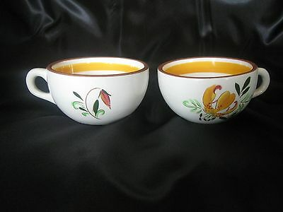 Stangl Pottery - Trenton, NJ 2 Coffee / Tea cups Tiger Lily Pattern Vintage