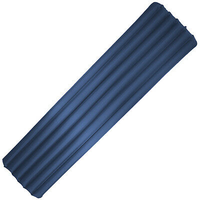 Highlander Inflatable Backpacking Airbed Camping Travel Sleeping Mattress Blue