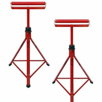 "2 X Metal Roller Stands Rest Woodworking 27"" -47"" Adjustable Sturdy Wood   R1B"