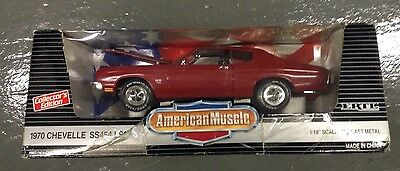 Ertl American Muscle Collector's RED 1970 CHEVELLE SS454 LS6 Die-cast