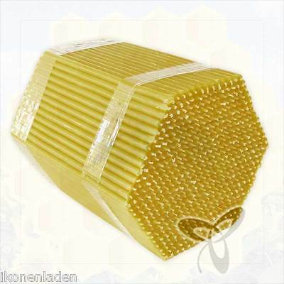 """90 Bees wax natural candles 6.3"""" high Quality for home and church Восковые свечи"""