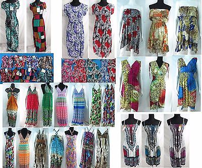 US SELLER-15  summer short dress maxi dresses women clothing wholesale lot
