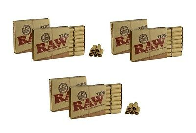 6 Raw Pre Rolled (126) Tips Natural Prerolled Cigarette Filter Rolling Paper