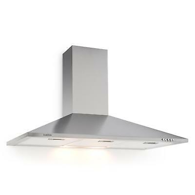 90cm COOKER HOOD CHIMNEY EXTRACTOR FAN STAINLESS STEEL EXHAUST ODOUR FREE