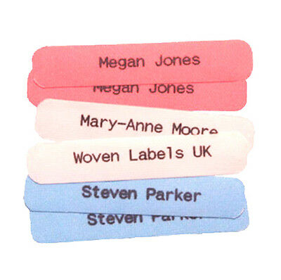 100 Original Hard wearing Printed iron-on School Name Tapes Name Tags Labels