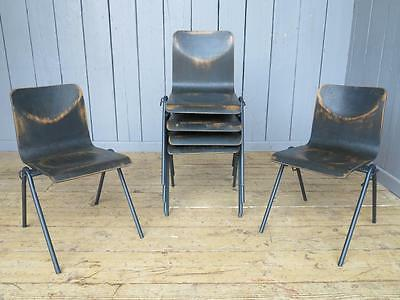 5 Available Vintage Stacking Chairs - Kitchen Dining School Chapel Chair
