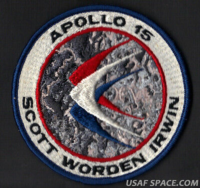 APOLLO 15 LION BROTHERS VINTAGE ORIGINAL NASA Hallmarked CLOTH BACK SPACE PATCH