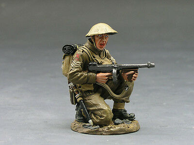 King (and) & Country FOB030 - Br. Kneeling Firing Tommy Gun - Retired