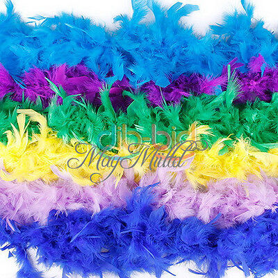 2M 79Inch Long Fluffy Feather Decoration Boa Party Costume Wedding Dress Decor t