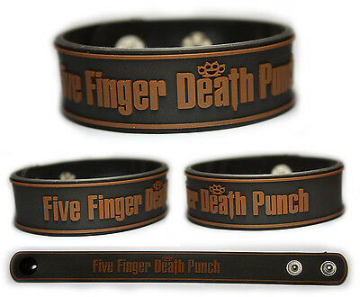 FIVE FINGER DEATH PUNCH Rubber Bracelet Wristband   The Way of the Fist