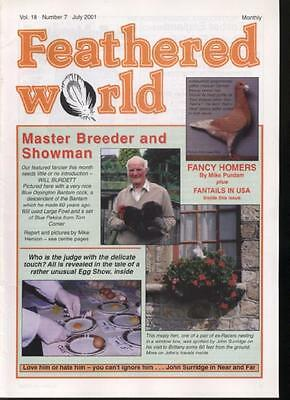 FEATHERED WORLD MAGAZINE - July 2001  Poultry Pigeons