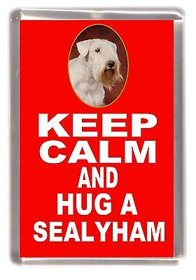 "Sealyham Terrier Dog Fridge Magnet ""KEEP CALM AND HUG A SEALYHAM"" by Starprint"