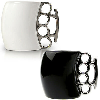 Stylish Fist Mug Knuckle Duster Finger Mug Ceramic Cup Tea Coffee Milk