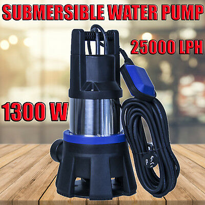 1300W 25000LPH  Water Pump Submersible Dirty / Clean  Garden Tank Outdoor