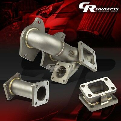 J2 MAZDA RX7 FC3S S4/S5 STAINLESS T4/T04 TURBO EXHAUST MANIFOLD 5MM THICKNESS