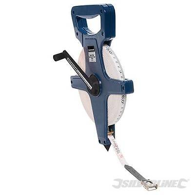 Heavy Duty Open Reel Surveyors Tape up to 100m - metric and imperial graduations