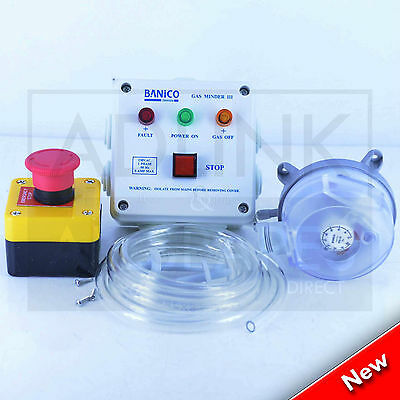 Gas Interlock Minder Safety Isolator System Kit Kitchen Extraction ISP 3